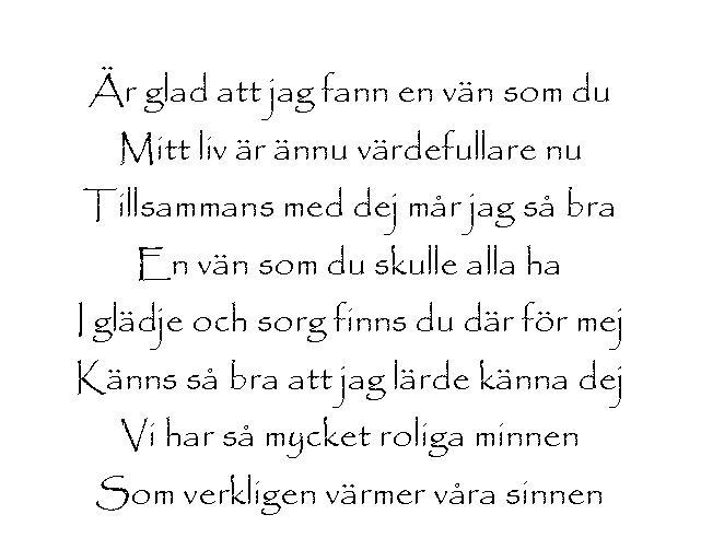 dikt till en vän som gått bort